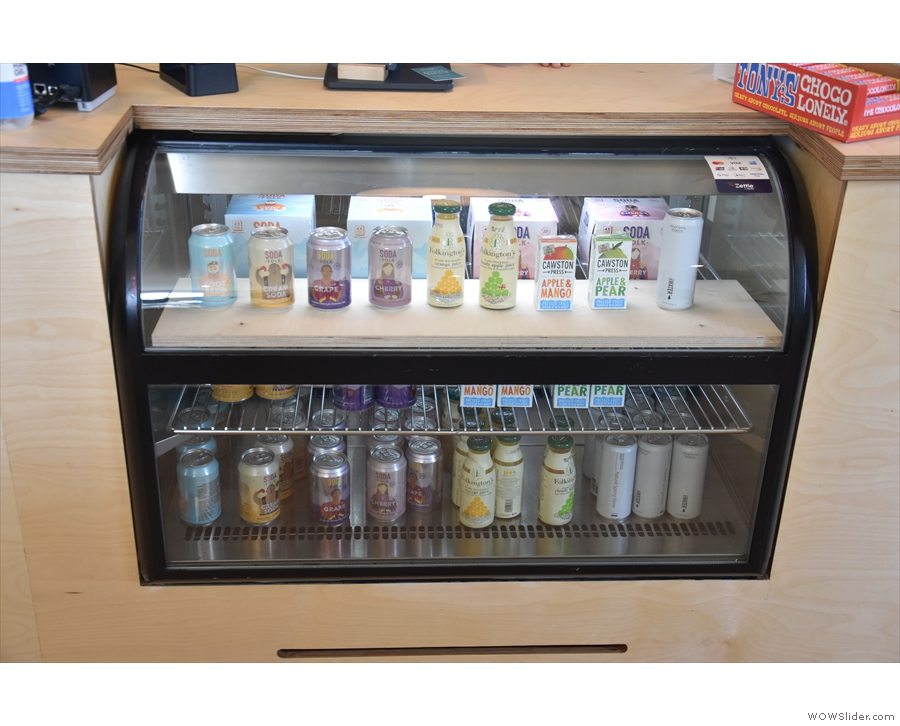 ... soft drinks (chiller cabinet by the till)...