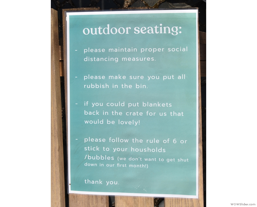 ... as explained by this handy set of instructions (which you'll find on each table).