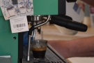 Down to business. It's always fun watching espresso extract, although this wasn't mine.