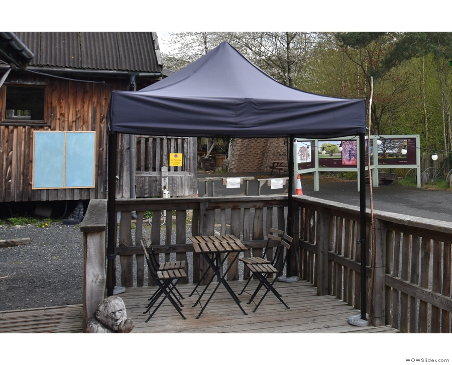 ... or this four-person one under the gazebo. You can go no further by the way...