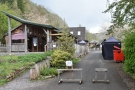 ... with the café straddling either side of the access road at the back.
