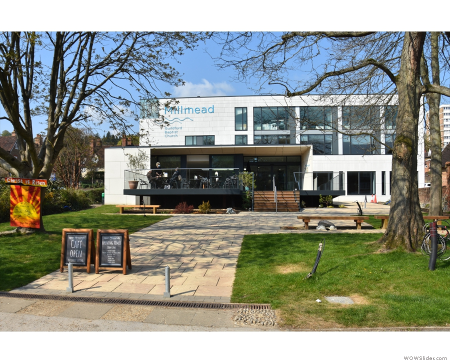Guildford Baptist Church on Millmead, home of Open Grounds Café.