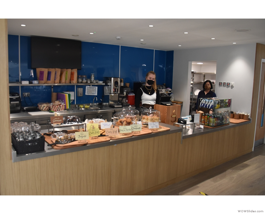 The counter, plus staff.