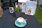 On my first visit, in mid-April, I just had a flat white, sitting at Table 5...