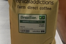 The main espresso is a single-origin Brazilian from Ethicaladdictions...