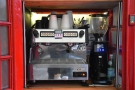 The heart of the operation: the espresso machine and very fancy Sanremo grinder...