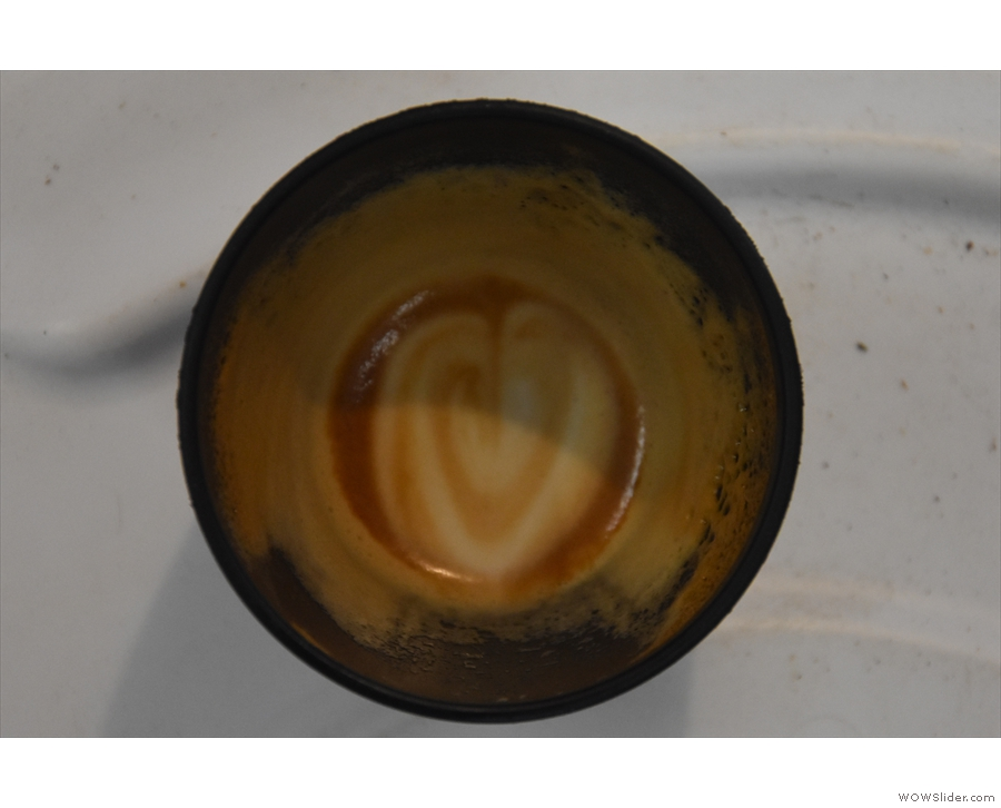 ... sign when the milk is so well steamed, it holds the pattern to the bottom of the cup.
