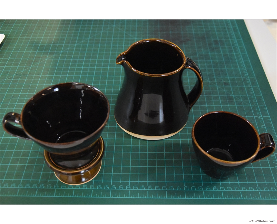 Continuing with the design theme, this beautiful dripper and cup set is by local ceramicist...