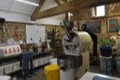 Inside, there's a 12 kg Diedrich coffee roaster, the burning heart of Hundred House.