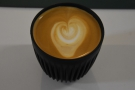 I will leave you with a flat white, which Matt made for me in my HuskeeCup. It's a good...