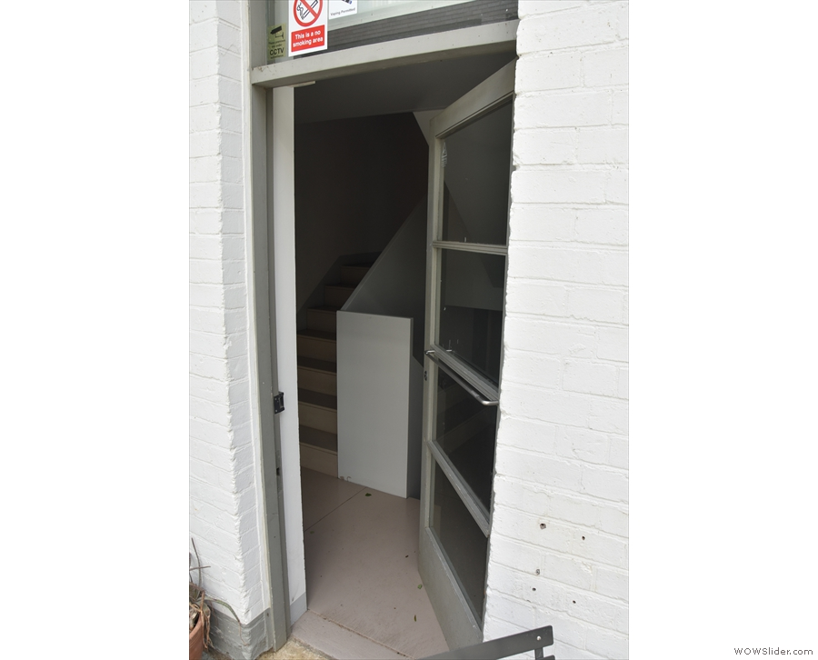 This back door to be precise. You can enter here, but instead...