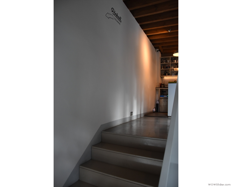 You can come in this way, and, ascending the stairs...