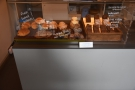 The cakes and pastries are on the left...