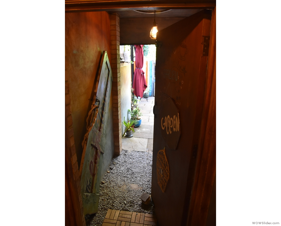 However, you need to turn to right and head out through this door...