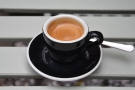 I had an espresso, by the way, served in a proper cup...