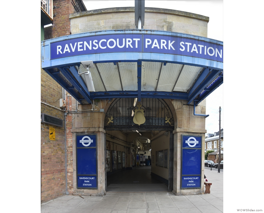 That's right! It's outside Ravenscourt Park Station on the District Line.