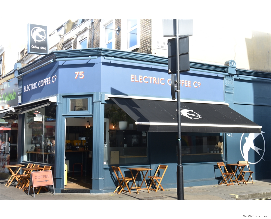 Electric Coffee Co. on the corner of Goldhawk Road and Richford Street...
