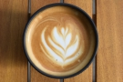 Check out the lovely latte art.