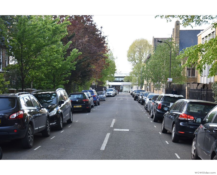 Leafy Cambridge Grove in Hammersmith, a quiet street which leads...