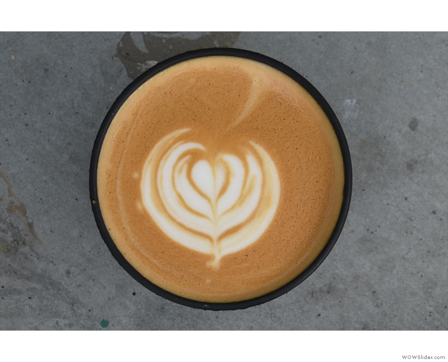 I will leave you with a view of the latte art...