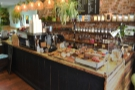 And talking of the counter, here it is, a lovely wooden affair on the right.