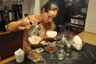 Back to the pour-overs: after leaving them to bloom, Willa moves onto the main pour...