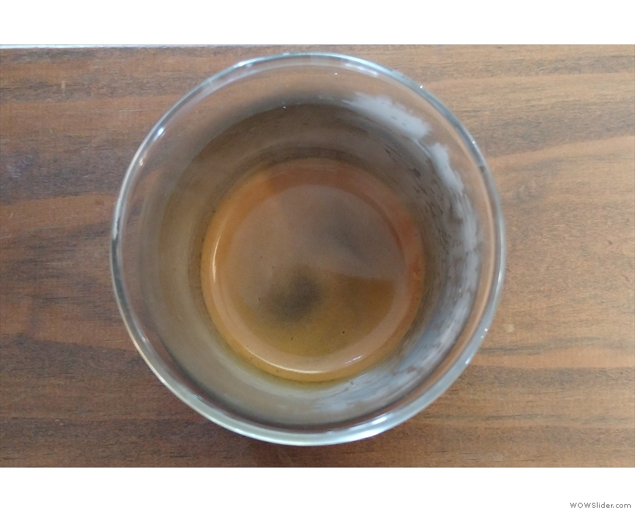 My espresso, from above.