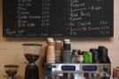... where you'll also find the coffee and tea menu.