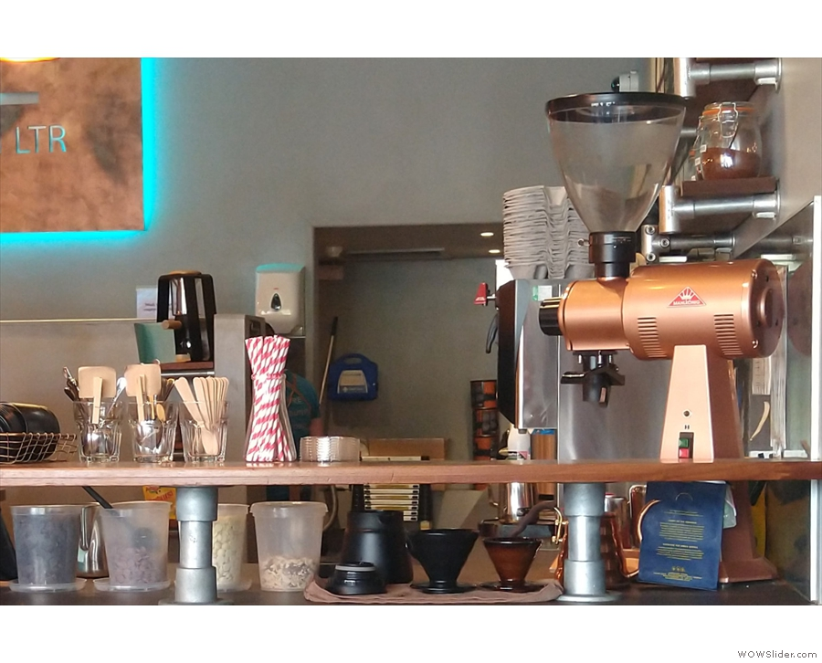 I had a pour-over, which was prepared right at the front of the counter, next to the EK43.