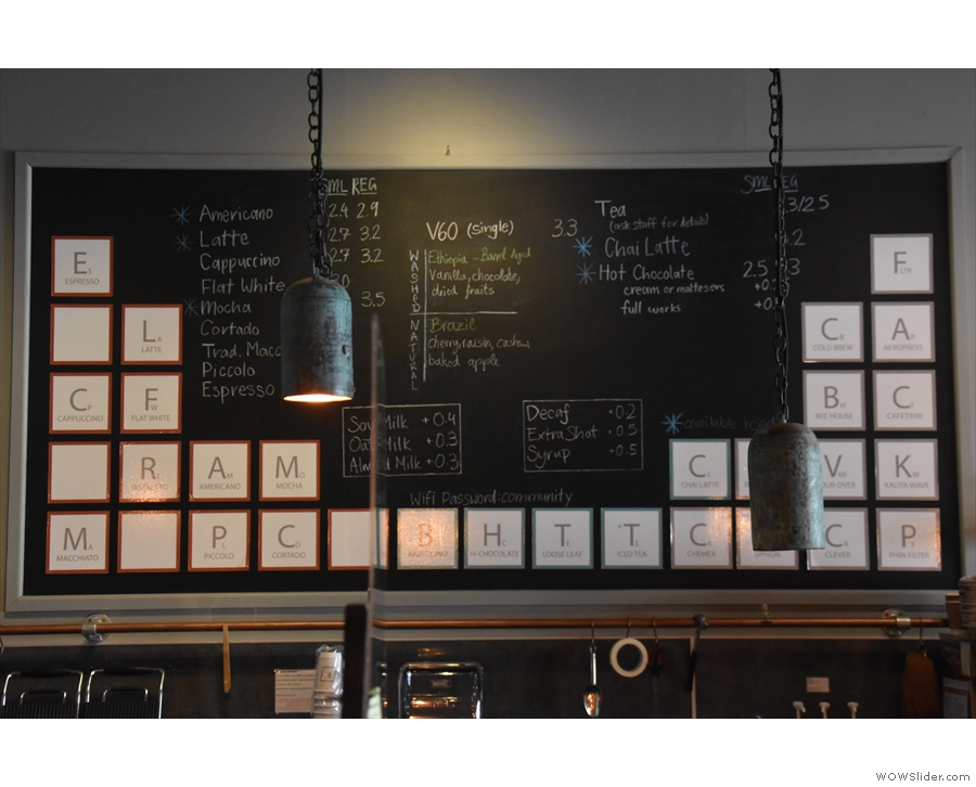 The coffee menu is really neat, by the way.