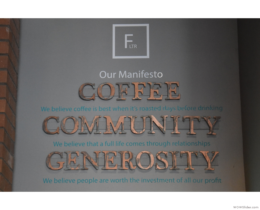 You can also find the FLTR manifesto on the wall.