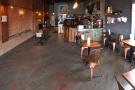 The view from just inside the door, looking towards the back of FLTR Coffee.