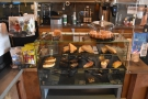 ... and more cakes in the display case to the right.