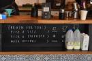 The coffee menu is delightfully simple.