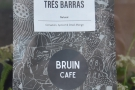 ... which, when I was there, was the Trés Barras, a naturally-processed coffee from Brazil.