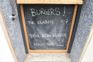 ... which also doubles as a burger menu!