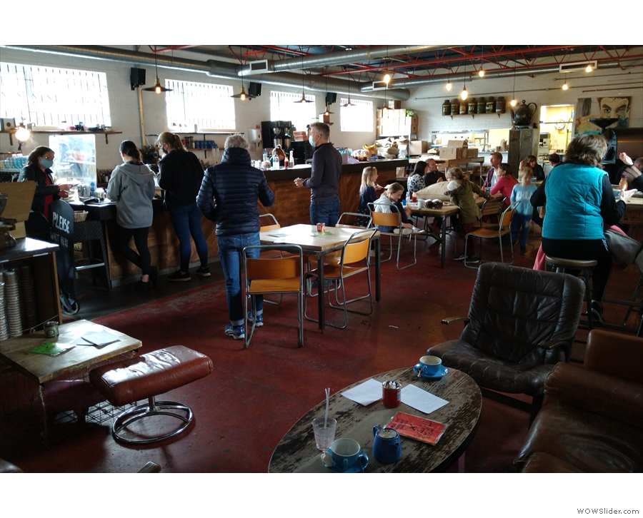 A view of the busy interior of Coopers from the lounge area.