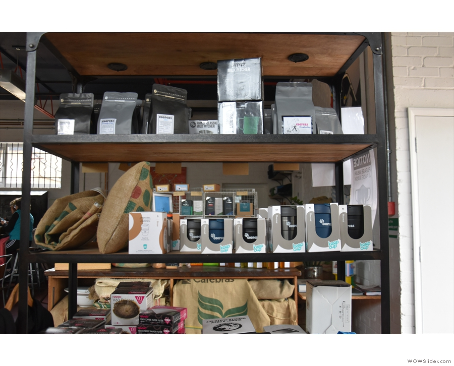 Some of the coffee kit on sale on the retail shelves.