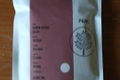 I was also given this naturally-processed coffee from Damian Espinoza Garcia in Peru...