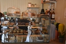 If you're hungry, a tempting array of cakes (and some savoury items) are on the counter...