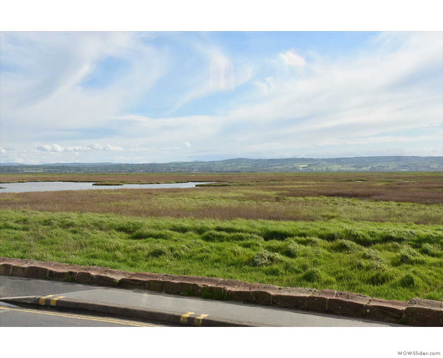 Talking of windows, these are the views, first looking over the River Dee towards Flint...