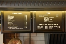 ... where you'll also find the coffee and tea menus.