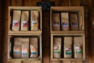 ... where you can find the house blend, decaf and some single-origins for sale.