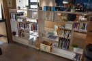 Staying inside for now, these bookshelves were used as part of the one-way system...