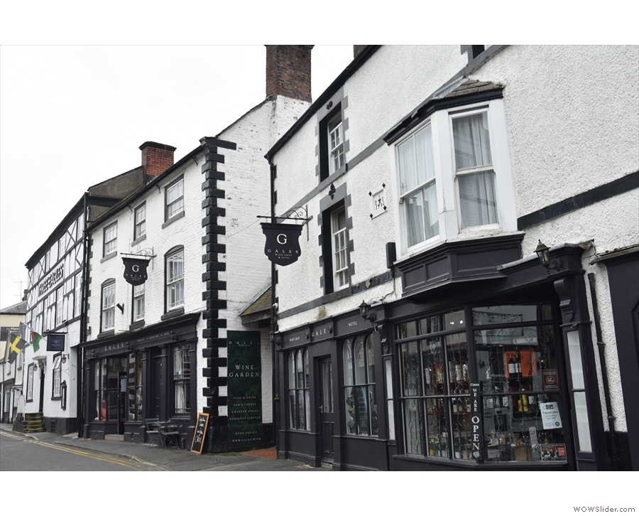 On the south side of Bridge Street are two buildings dating to at least the 17th century.