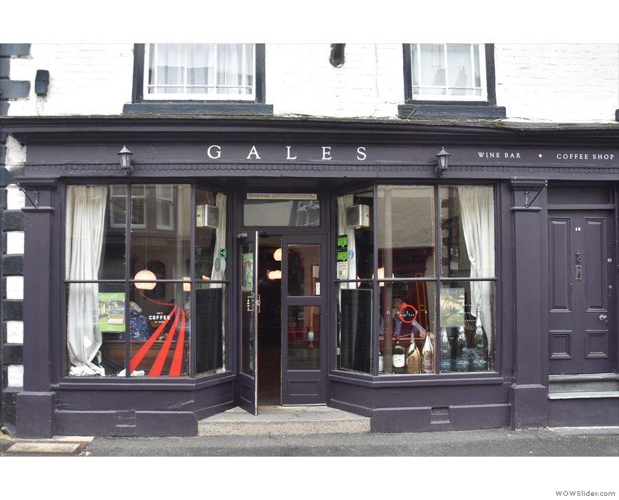However, we're interested in Gales Wine Bar on the left, which is home to...