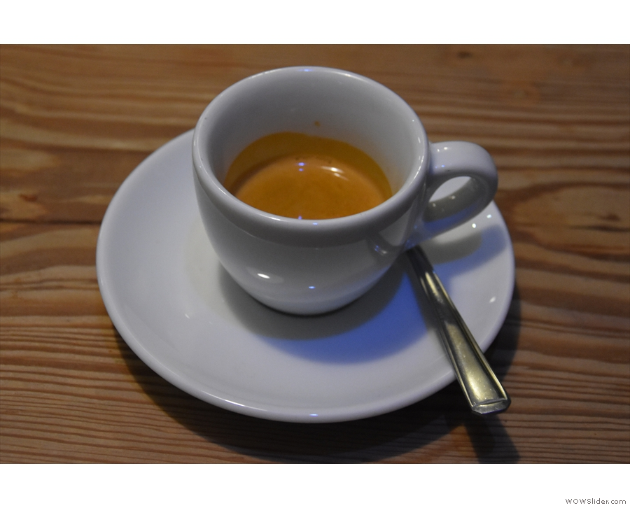However, I'll leave you with my espresso, all on its own in a classic cup.