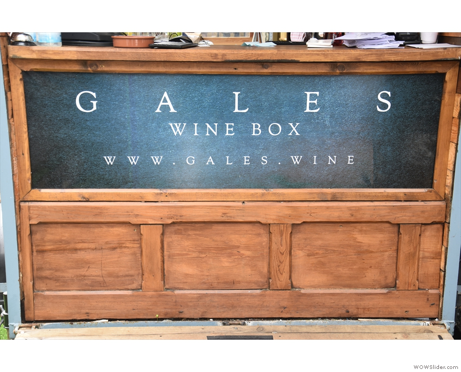 ... Gales Wine Box, a mobile wine bar in an old horse box.