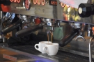 ... which means that you can watch your espresso extracting...
