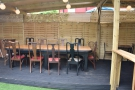 ... while at the back, this 10-person communal tables takes pride of place.